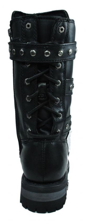 HARLEY DAVIDSON Billie Motorcycle Black Leather Rider BOOTS Women Size