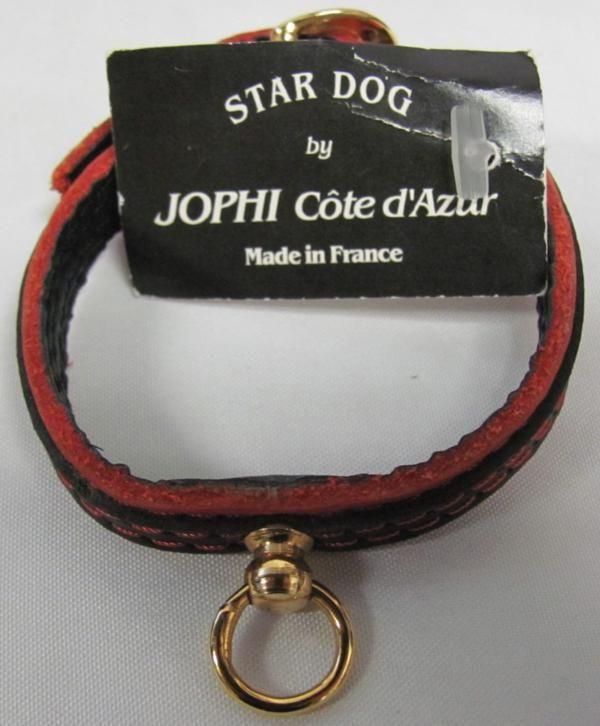 Red Christian Audigier Dog Pet Carrier Purse Skull Shirt Collar