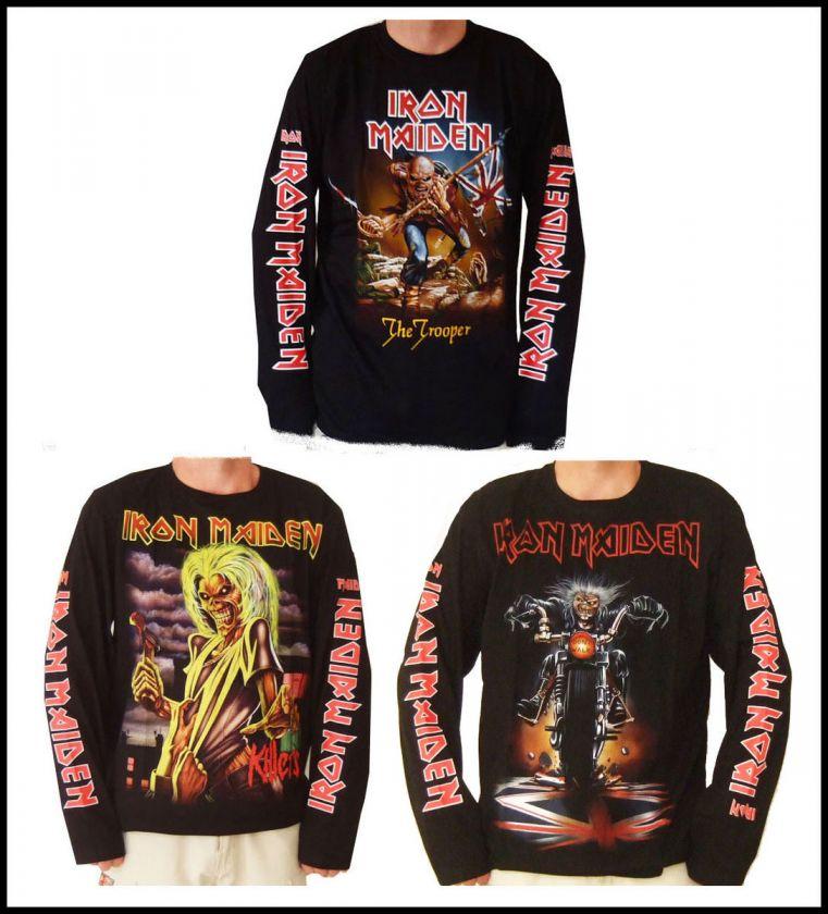 Iron Maiden Long Sleeve T Shirts S, M, L, XL, XL2