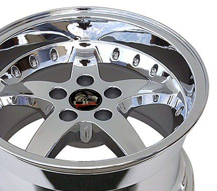 17 9/10.5 Chrome Cobra Wheels Rims Fit Mustang® 94 04